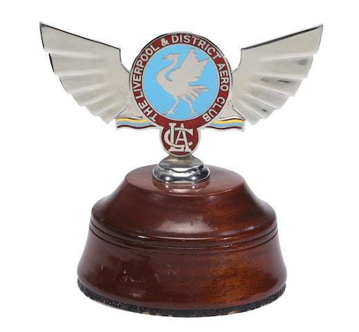 A Liverpool Aero Club badge, circa 1930's,