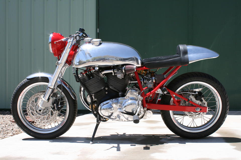Featured in the Discovery HD TV show Café Racer,2011 Egli-Vincent 1300cc Special Frame no. TPV/21/8