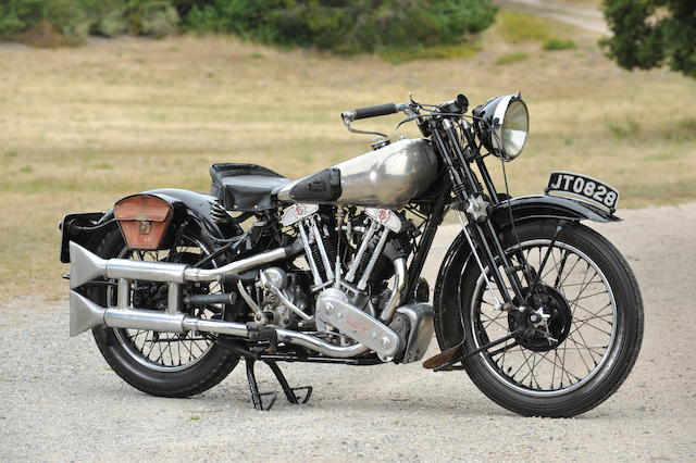 The last Brough Superior SS100 to leave the Nottingham factory,1940 Brough Superior SS100 Frame no. MI/1986 Engine no. BS/X2 1106