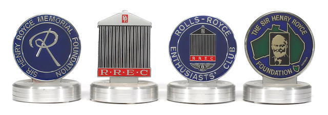A pair of Sir Henry Royce foundation badges