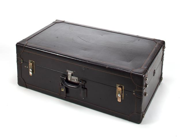 A Dunhill black leather wardrobe trunk,