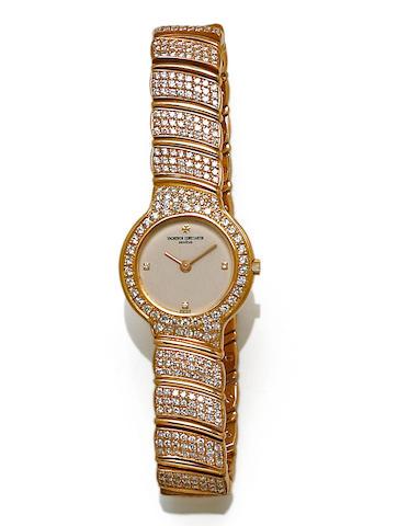 Vacheron and Constantin. A diamond and 18k gold bracelet wristwatch