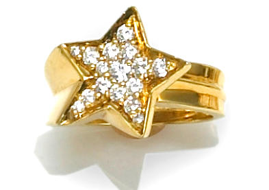 A diamond star motif ring, José Hess