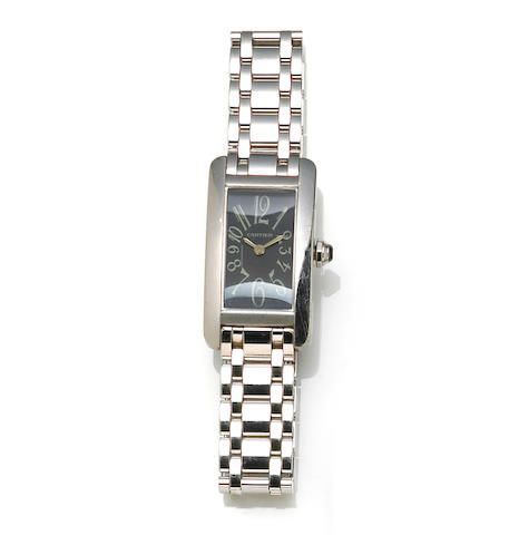 Cartier. An 18k white gold bracelet wristwatch, French