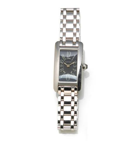 Cartier. An 18k white gold bracelet wristwatch, French