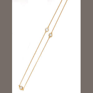 A diamond and eighteen karat gold necklace, Elsa Peretti, Tiffany & Co.