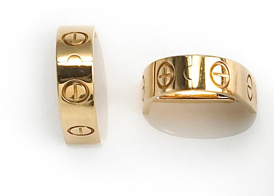 A pair of eighteen karat gold 'Love' cufflinks, Cartier
