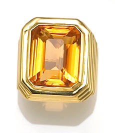 A citrine ring, Marlene Stowe