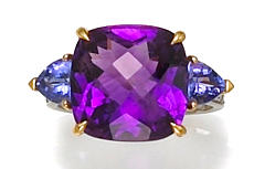 An amethyst, tanzanite and diamond ring, Paolo Costagli