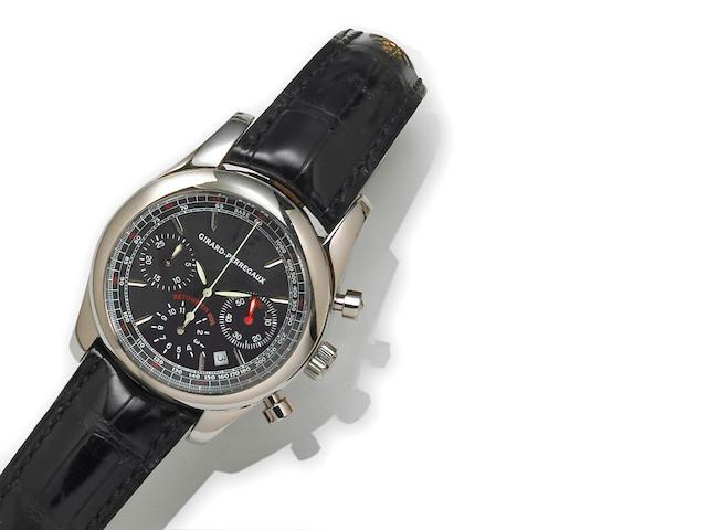 Girard Perregaux. A stainless steel automatic calendar chronograph wristwatch
