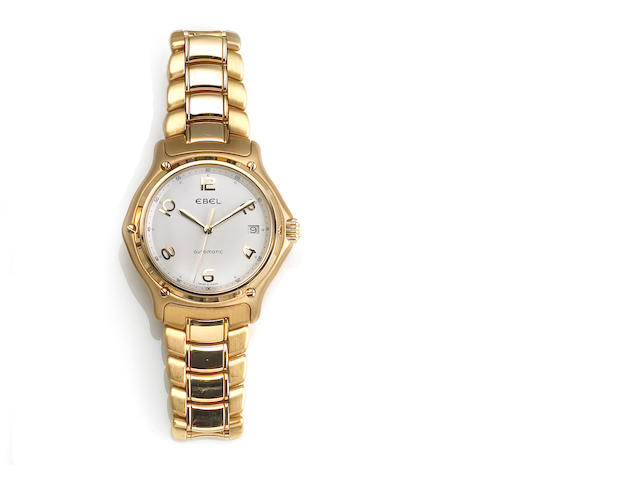 Ebel. An 18k gold automatic calendar bracelet wristwatch