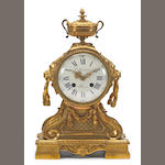 A Louis XVI style gilt bronze mantel clock <br>C. Detouche, Paris<br>[late 19th/early 20th century]