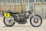 One of the world's rarest, most legendary motorcycles, one of only four built,1954 AJS 497cc E95 'Porcupine' Racing Motorcycle Frame no. E95.F3 Engine no. E2.54