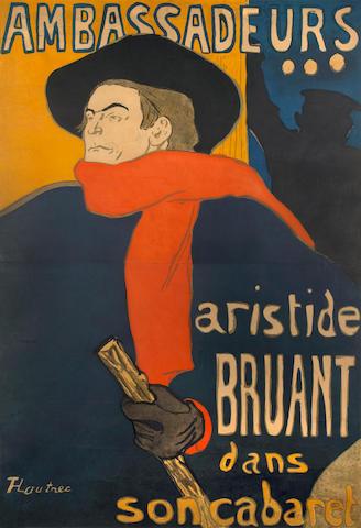 Henri de Toulouse-Lautrec (French, 1864-1901); Ambassadeurs, Aristide Bruant;