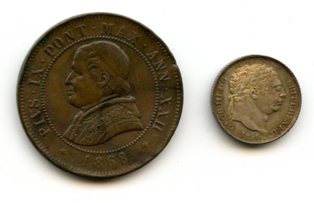 England, George III, Sixpence, 1820