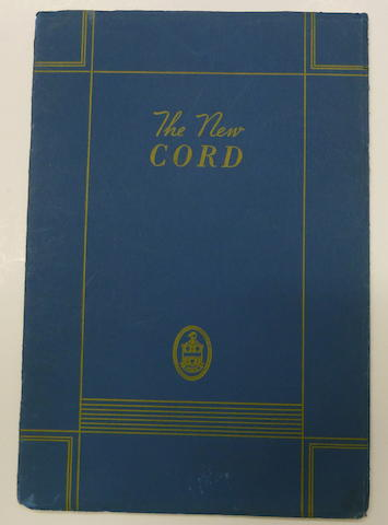 An original 'Cord' sales brochure, 1936,