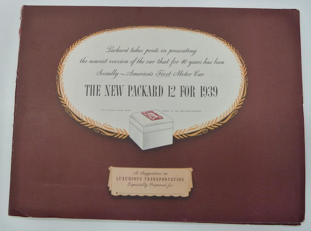 A 'Packard' 12 for 1939' brochure,