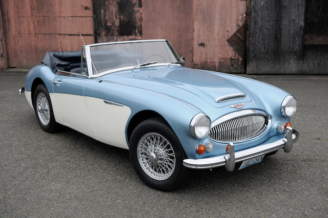 Sold to benefit the St. Thomas Legacy Foundation,1966 Austin Healey 3000 BJ8  Chassis no. HBJ8L31800 Engine no. 29K/RU/H6635