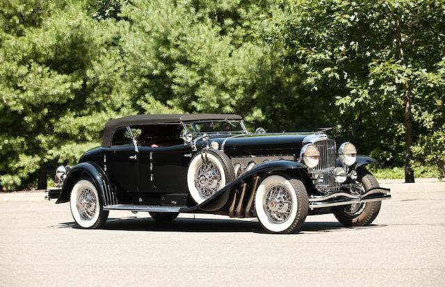 Ex- Mrs. E.L.Cord, Ex-Pacific Auto Rentals and arguably the most filmed Duesenberg of all,1930 Duesenberg Model J Torpedo Phaeton  Chassis no. 2276 Engine no. J-255