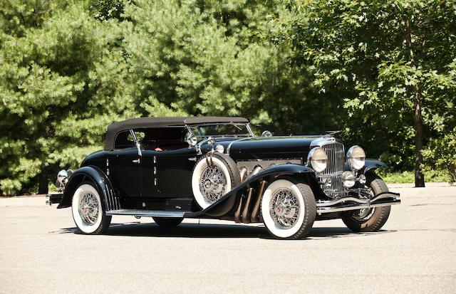 Ex- Mrs. E.L.Cord, Ex-Pacific Auto Rentals,1930 Duesenberg Model J Torpedo Phaeton  Chassis no. 2276 Engine no. J-255