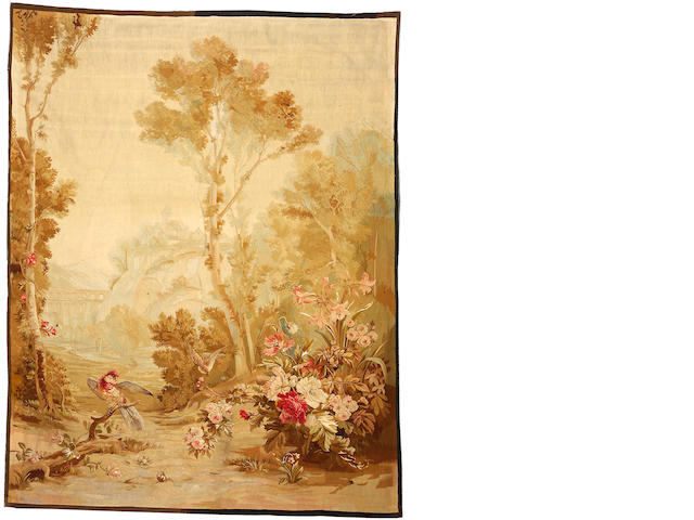 An Aubusson garden tapestry 19th century