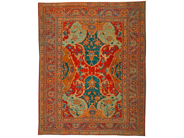 A Sultanbad carpet Central Persia size approximately 12ft. x 14ft. 10in.