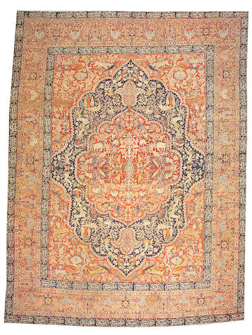 A Tabriz carpet Northwest Persia size approximately 12ft. 9in. x 17ft.
