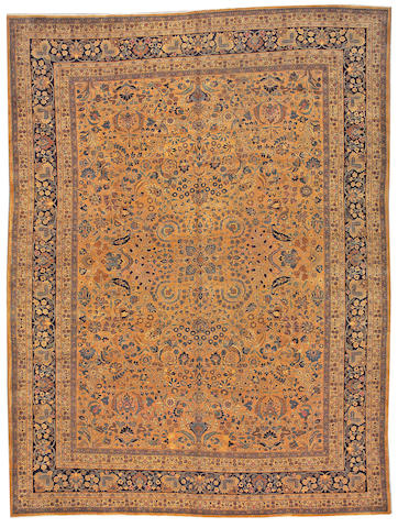 A Meshed carpet Northeast Persia size approximately 9ft. 10in. x 13ft. 2in.