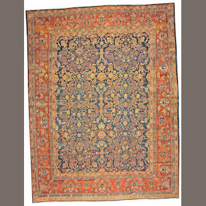 A Bibikabad carpet Central Persia size approximately 10ft. 6in.x 14ft.