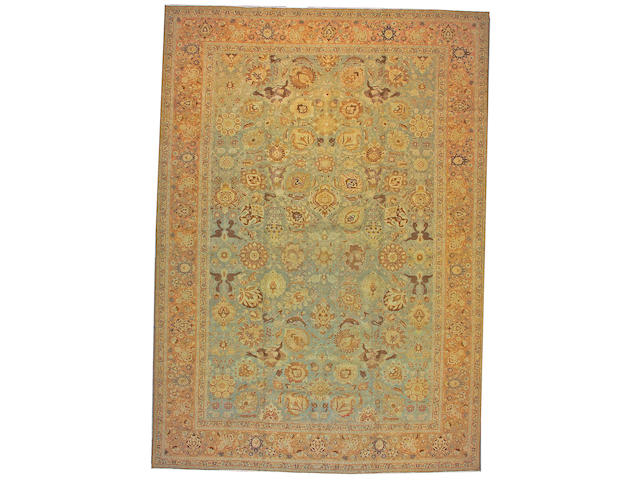 A Tabriz carpet Northwest Persia size approximately 11ft. x 15ft. 7in.