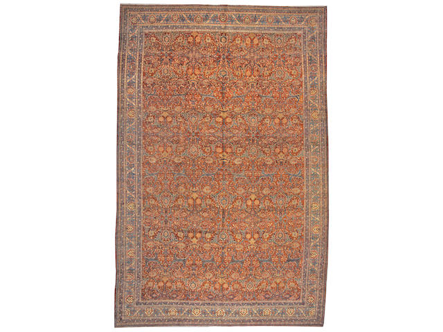 A Tabriz carpet Northwest Persia size approximately 11ft. 2in. x 17ft.
