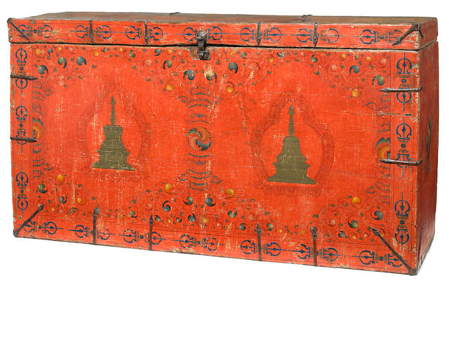 A storage chest Tibet, 17th century