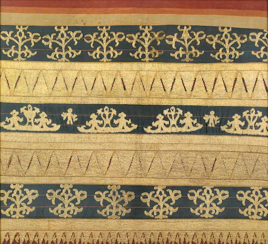 A ceremonial skirt (tapis) Abung people, South Sumatra, 19th century
