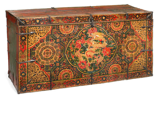 A storage chest Tibet, 16th/17th century