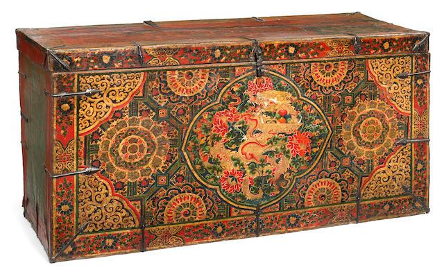 A storage chest Tibet, 16th/17th century