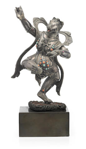 A silver figure of Rikshamukha Mongolia, 19th century