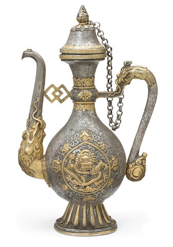 A parcel-gilt silver ritual ewer Tibet or Mongolia, 19th century