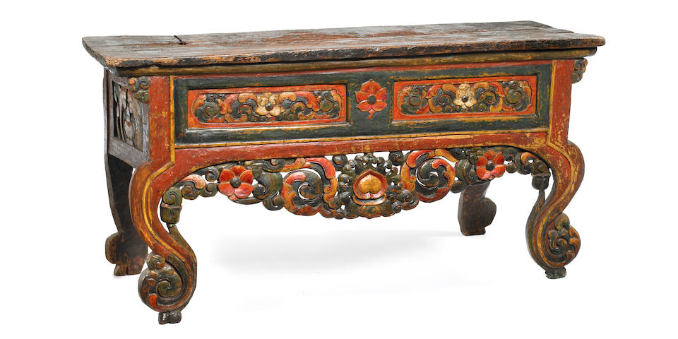 A meditation table Tibet 17th/18th century