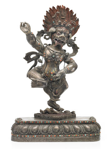 7A Silver figure of Simhamukha Mongolia, 19th century