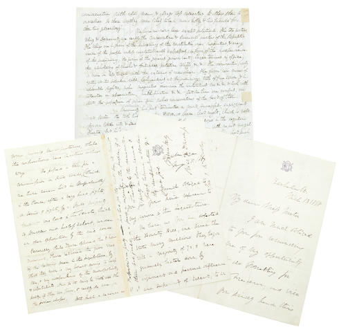"DANA, RICHARD HENRY, JR. 1815-1882 3 Autograph Letters Signed (""Rich H. Dana Jr""),"