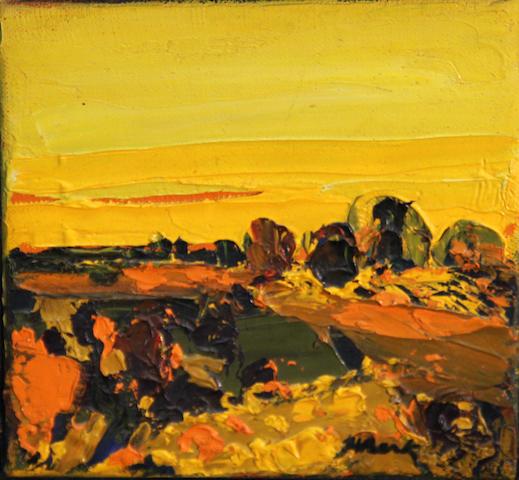 Henrietta Berk (American, 1919-1993) Harvest 6 x 6in