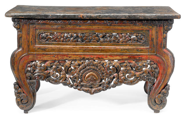 An altar table Tibet, circa 15th century