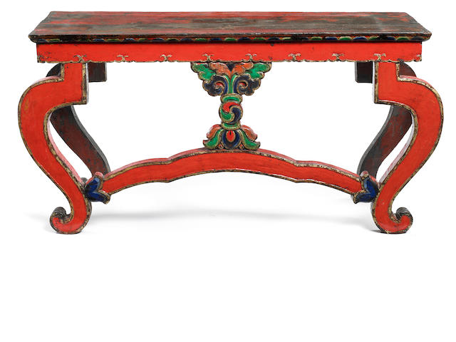 A ritual side table Tibet 15th/17th century