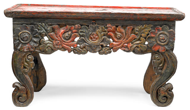 An altar table Tibet, 15th/17th century