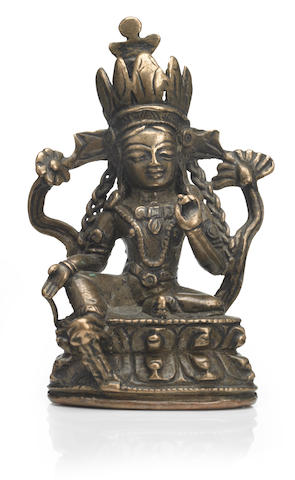 A copper alloy figure of Syamatara Western Tibet, 13th/14th century