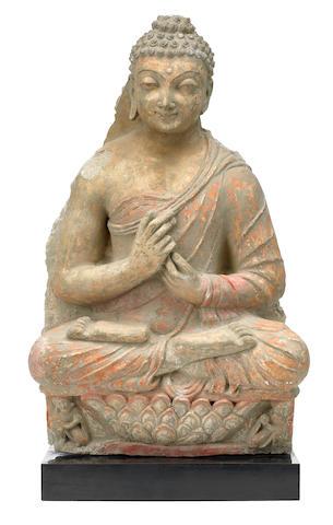 A stucco figure of Vairocana Gandhara, circa 4th century