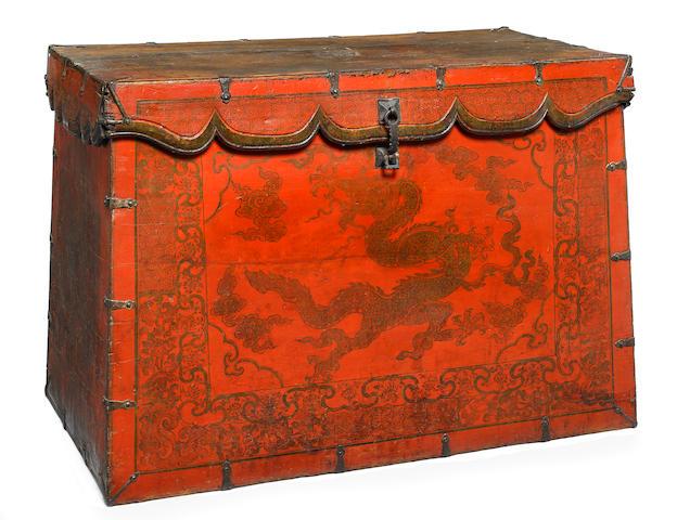 A storage chest Tibet, 17th century