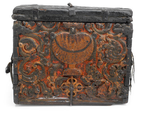 A small storage box  Tibet, 15th/17th century