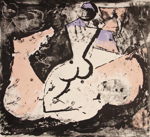 Marino Marini (Italian, 1901-1980); Cavallo e Cavaliere;