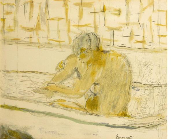 Pierre Bonnard (French, 1867-1947); Femme assise dans sa baignoire;